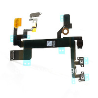 10pcs/lot New Power On/Off Volume Button Flex Cable For iPhone 5S Free Shipping