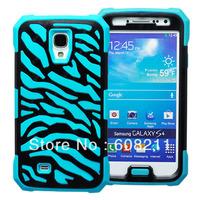 SAM I9500 Galaxy S4 Dual Layer Zebra Hybrid Soft high quality Silicone Hard PC Case Cover