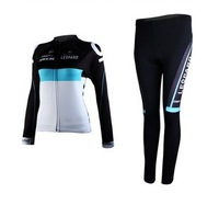 2012  LEOPARD-TREK   Team Women Cycling Jerseys Long Sleeve + Cycling Pants Sets Outdoor Cycling Clothing For Woman