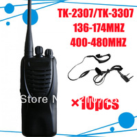 <10pcs/lot DHL freeshipping + Free headsets +UHF 400-480MHZ + 466mhz walke talke > TK-3307 walkie talkie for police