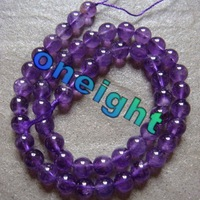 Hot Free Shipping AAA 8mm Natural Amethyst Round Ball Loose Beads For Jewelry Making 50beads/lot  wholesale