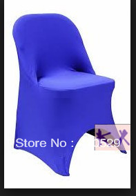 Lycra chair cover/Spandex chair cover/Blue Folding chair covers for Hotel/Free shipping(China (Mainland))