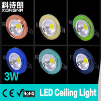 8pcs/Lot, Free Shipping 3W COB LED Ceiling Light Crystal Mask With Different Colors Epistar Chip AC85~265V Warm White/Cold White