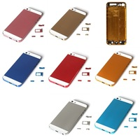 Replacement High Quality Color  Back Metal Housing For iPhone 5s Colorful Back Cover Housing For iPhone5s Free Shipping