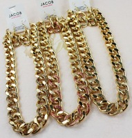 free shipping fashion jewelry accessories chunky thick gold chain necklace earrings set