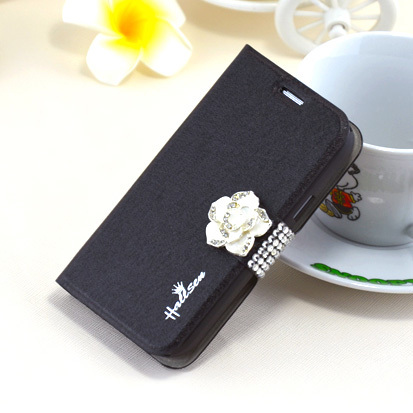 Flower Diamond Leather Case for Samsung Galaxy Trend I699 Cell phone case ACCESSORIES ONE DIRECTION Hot selling(China (Mainland))