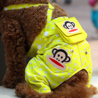 Free shipping Pet Dog summer for Denim bib Pants Teddy Poodle summer Clothes Trousers