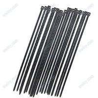 """Wholesale -8"""" Black Self-Locking Plastic Cable Zip Ties Cable Loop Ties (100) 2Q536"""