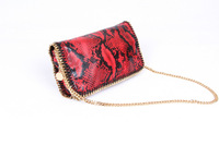 Red Python Falabella Fold Over Gold Chain shoulder bags Crossbod Bag size 23x12x5cm  Free Shipping