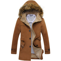 2013 autumn and winter fashion khaki cashmere woolen overcoat male slim medium-long trench outerwear