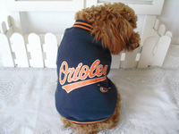 Baseball suit Pet winter apparel clothes/clothing free shipping on promotion
