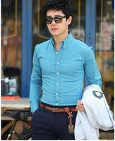 169 New Men Stylish Casual Slim Fit Long Sleeve Dress Shirts