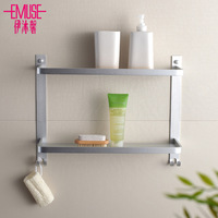 Thickening in the bathroom space aluminum bathroom double layer shelf double layer shelf shelving debris rack