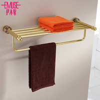 Bathroom space aluminum towel rack double layer towel rack towel rack fashion towel hanging bathroom rack
