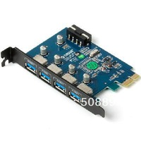 Freeshipping New 1pcs/lot ORICO PRU3-4P super speed 4 Port USB3.0 PCI-Express Card