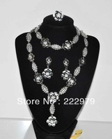 New arrive zircon jewelry high quality 4pcs bridal zircon jewelry sets