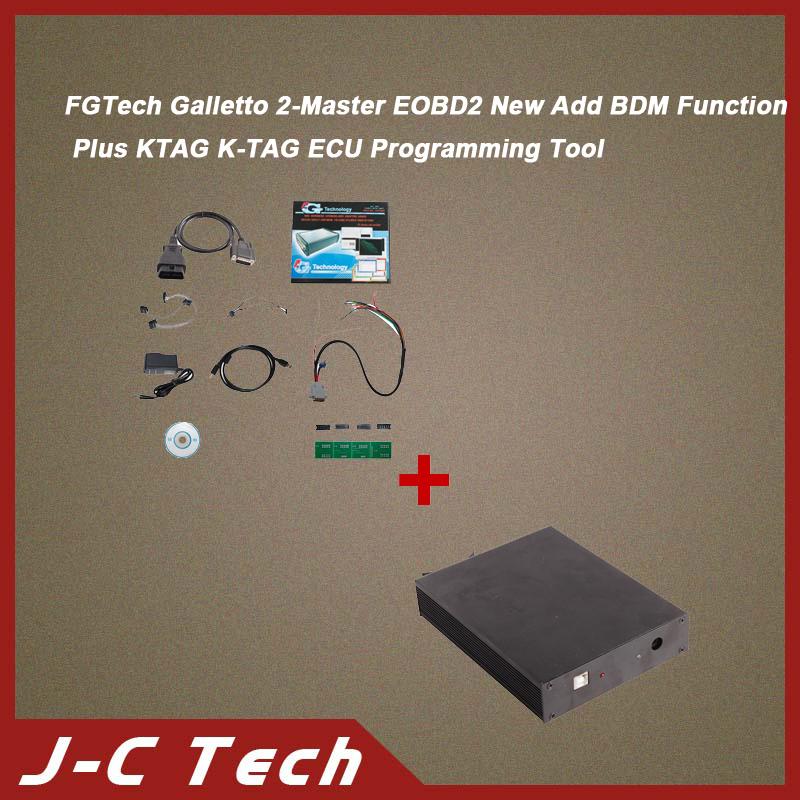 FGTech Galletto 2-Master EOBD2 New Add BDM Function Plus KTAG K-TAG ECU Programming Tool(China (Mainland))