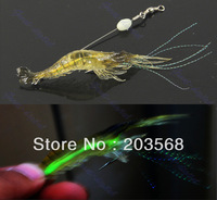 M65 2pcs 70mm Noctilucent Soft Silicone Simulation Prawn Shrimp Fishing Lure Hook Bait Free Shipping