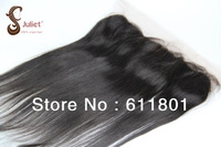 "Queen hair products virgin straight hair lace frontal13x4 ,10""-20"" bleached knots,silk base closures Free shipping"