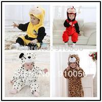 Baby Animal Hooded One-Piece Romper Children Halloween Xmas Costume Kids Romper  Jumpsuits Bee Ladybug Beetle Snow leopard