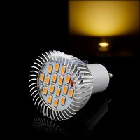 6PCS/LOT High Quality Domestic lighting GU10 16 SMD5630 LED Warm White Spot High Power Light Lamp Bulb 85V-265V/6.4W TK0627