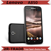 5.5 inch  Lenovo A850 MT6582m Quad Core Phone  Android 4.2 1+4GB Multiple Languages Russian cheap 3G SmartPhone Free Gifts