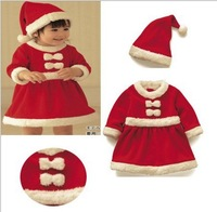 Baby Christmas Suits,Christmas Costume, Santa Baby Dress,Santa Claus Romper 60set