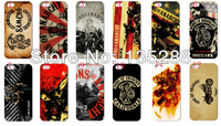 hot New  design 12pcs/lots Sons of anarchy hard white case cover for iphone 5 5s 5th+ free shipping