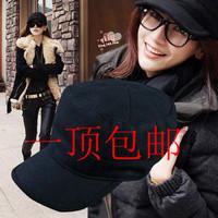 Fashion male women's woolen hat autumn and winter navy cap benn millinery cadet cap