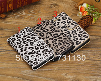 Free Shipping leopard print leather Case for iPhone 5c, 3 styles stand function drop shipping
