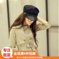 Hat fashion navy women's sun-shading cadet cap autumn and winter hat dome cap