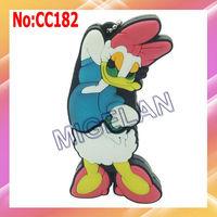 Wholesale 1GB to 64GB Donald Duck Cartoon USB Flash Memory Pen Drive Sticks 100% genuine capacity Blue Free shipping  #CC182