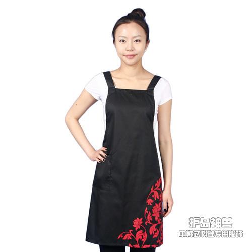 Fashion print apron chef apron work aprons kitchen apron(China (Mainland))