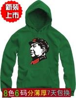 Wool chairman head portrait pullover with a hood thin outerwear sweatshirt cap vintage sportswear team clothing