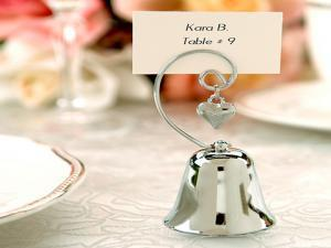 Free shipping 2013 wedding gift wedding gift love bell clip place card holder