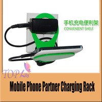 wholesale 50pcs/1lot  Storage Holders & Racks Multi-function mobile phone charging protection Convenient Shelf