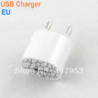 10pcs Free Shipping AC Charging USB EU Plug Power Adapter Charger Wall Plug for iPhone for iPod - White Drop Shipping