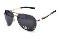 Designer Sunglass Men's/Women's Brand New Plaintiff OO4057 Polarized Sunglasses Silver Metal Frame Grey Lens Black Logo