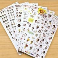 christmas kids cute cartoon girl diy pvc decorative diary scrapbooking stickers korea stationery ponybrown creative gift
