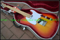 Wholesale - Custom SHOP Guitar cherry Sun burst Maple fretboard tele classicelectric guitar China Guitar OEM