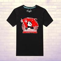 Panda and Tiananmen square 100% cotton short-sleeve T-shirt002