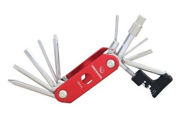 Cut chain with 14 Functions combination tool,Mountain bike/ Road bike cycling equipment accessories Multifunction