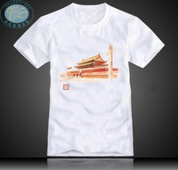 Shirt hand painting t-shirt nostalgic vintage men's personalized oil painting short-sleeve top001