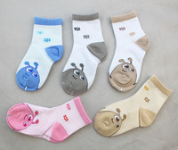 5 Pairs of Mixed Colours Carton Autumn Kids Socks Fit 4-7 Years,free shipping
