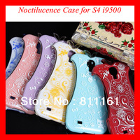 Free Shipping Fashion Hard Noctilucent  Electroplate Plastic Luxury Lady Noctilucent Cheongsam Case For Samsung Galaxy S4 i9500
