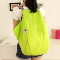 Multifunctional shopping bag folding storage bag portable waterproof backpack 13373