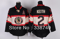 Wholesale Men's Ice Hockey Jerseys Cheap Chicago Blackhawks #2 Duncan Keith 3rd Third section Jersey,Embroidery Logos