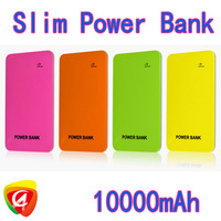 100pcs Slim 10000mah Dual USB Power Bank Battery Charger For iPhone 4 4S 5 iPod iPad Mobile Phone 4 adapters retail box