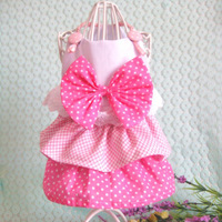 Free Shipping Fashion Cute Pink White Pet Dog Puppy Bow Multillayer Princess Dress Clothes New LX0089 Drop Shipping