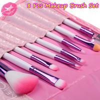 2013 Professinal 8 Pcs Pink Women's Makeup Brush Set Cosmetic Brushes for Face And Eye Shadow Lady's Gift